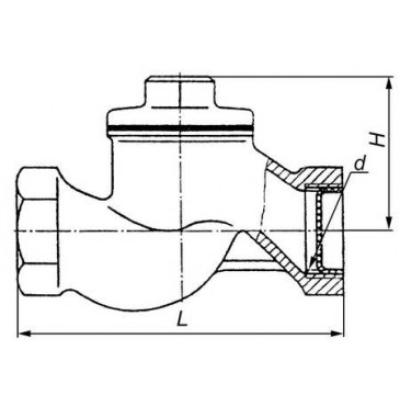 Клапан обратный подъемный 16кч11п