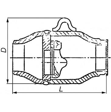 Клапан обратный 19с38нж