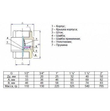 Клапан обратный пружинный STI