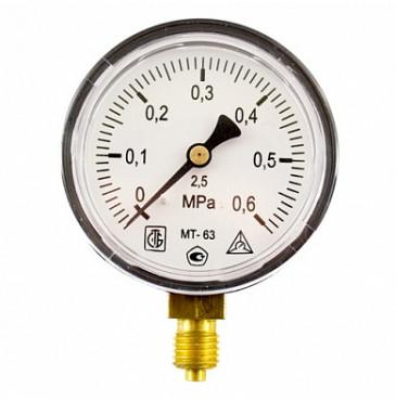 Манометр МТ 63П 0,6МПа (метрическая резьба - М12х1.5)
