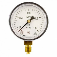 Манометр МТ 63П 1,6МПа (метрическая резьба - М12х1.5)